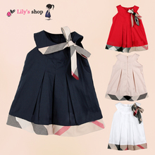 Name brand girl dress england style girls clothes plaid baby girls dress high quality kids clothes fashion children clothing(China (Mainland))