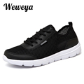 Weweya 2017 Summer Men Shoes Breathable Mesh Man Flats Lightweight Shoes Men Krasovki Zapatillas Plus Size