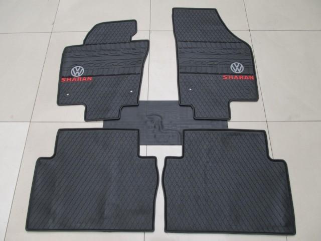 dedicated tasteless rubber car floor mats green latex carpets for VolkswagenSharan five seat cushion environmental protection(China (Mainland))
