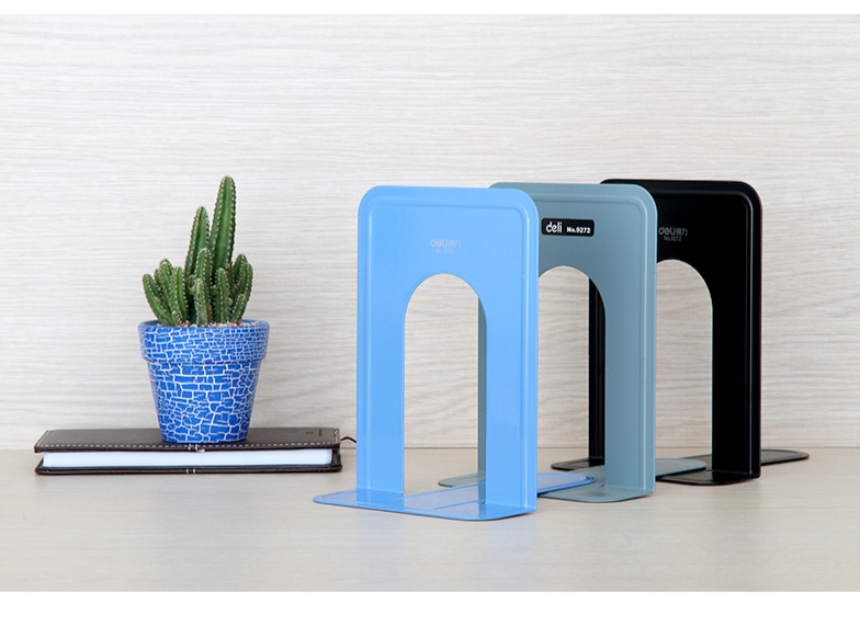 1 Pair/lot 3-Color Metal Bookend for book &amp; Magazine, Black &amp; Gray &amp; Blue,  SL00001<br><br>Aliexpress