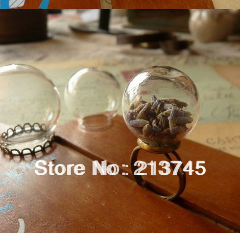 FREESHIPPING!!!  25*15mm  Handcraft Glass Globe Bubble Glass Cover Vial Pendant DIY  Glass Jewelry Domes
