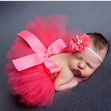 Baby Girls tutu skirt photography prop with hair accessories Infants kids solid clothings Fashion toddle chiffon ball gown HB356(China (Mainland))