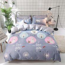 Bonenjoy Green Cactus Bedding Set Queen Size Plant Home Bedding Sheet Single Bed Linen ropa de cama King Bed Set Duvet Cover(China)