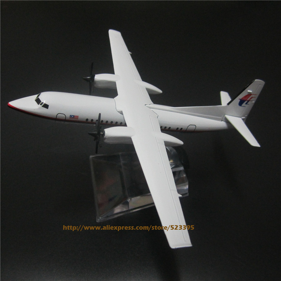 16cm Alloy Metal AIR Malaysia Airlines Fokker F-50 F50 9M-MGC Airways Airplane Model Plane Model W Stand Aircraft Toy(China (Mainland))