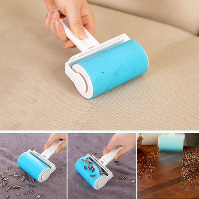 Washable Sticky Hair Sticky Clothes Sticky Buddy For Wool Dust Catcher Carpet Sheets Hair Sucking Sticky Dust Drum Lint Rollers(China (Mainland))