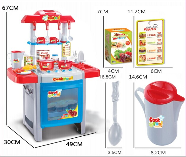 Buy child kitchen toys set classic cooking rice tools kids for Kitchen set for 1 year old