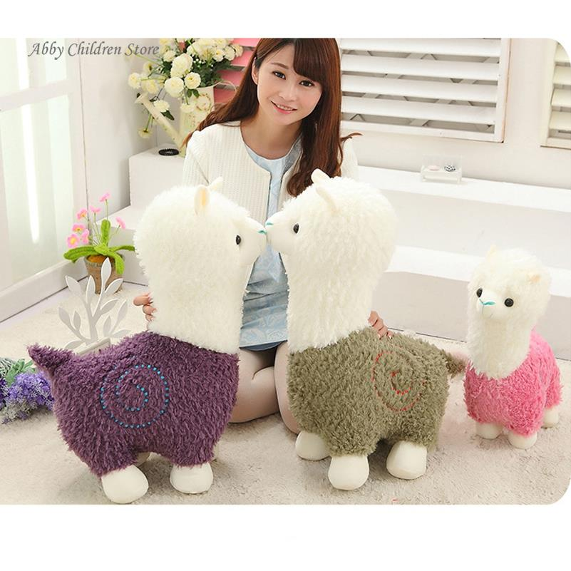 40CM Alpaca Plush Doll Toy Fabric Sheep Stuffed Animal Plush Llama Yamma Birthday New Year Christmas Gift For Baby Kid Children(China (Mainland))