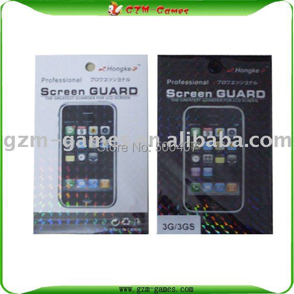 10pcs/lot For iphone 3GS screen protector Anti-glare Free shipping