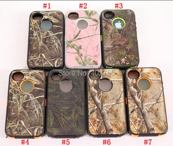 Wholesale 50pcs/lot For iPhone 4S Generic Orange Pink Camo Cases No Logo NO CLIP NO BOX DHL Free Shipping(China (Mainland))