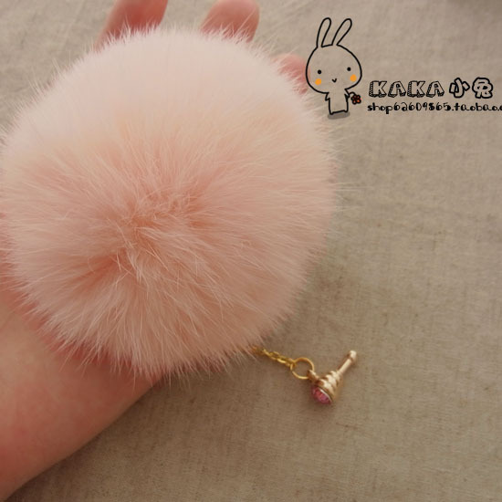 Rabbit fur ball dust plug  for iphone    for apple   4s  for SAMSUNG   s4 mobile phone dust plug big round