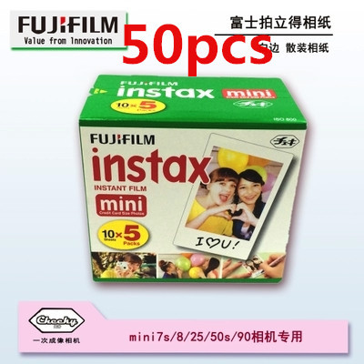100% Original Fujifilm Instax Mini Film white edge 50 pcs for Fuji Instax Mini Camera mini 7s mini8 25 50S fast free shipping(China (Mainland))