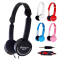 Foldable Portable Headphone Travel Game Headset 3 5mm Earphone With Microphone Wire Control For Phone Children