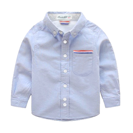 2-12 Years Kids Boys Shirt Long Sleeve Turn Down Collar Cotton Oxford Baby Boys Dress Shirt 2016 New Autumn Children Clothing(China (Mainland))