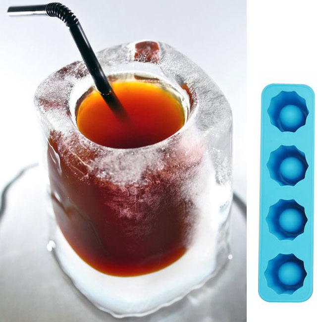 Ice Cube Tray Mold Makes Shot Glasses Ice Mould Novelty Gifts Ice Tray Summer Drinking Tool B0050(China (Mainland))