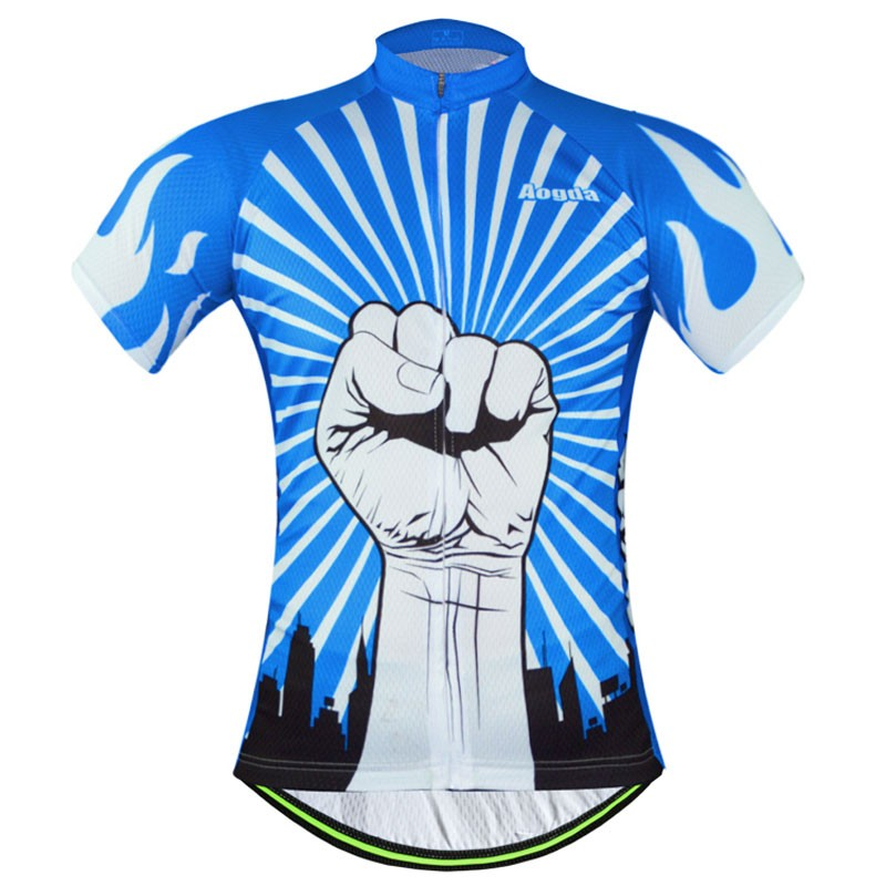 High quality 2015 men men's Cycling jersey tops / power design Cycling jersey only short-sleeve T-shirt top(China (Mainland))