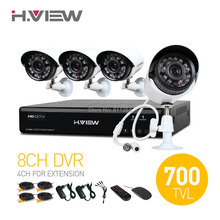 4CH CCTV System 8 Channel HDMI DVR 4PCS 700TVL IR Weatherproof Security Camera 24 LEDs Home Security System Surveillance Kits