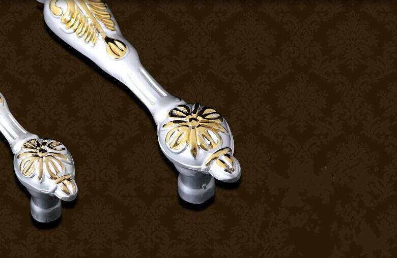 128mm european high quality handles ivory  white kitchen cabinet pulls zinc alloy drawer dresser wardrobe cupboard handles pulls