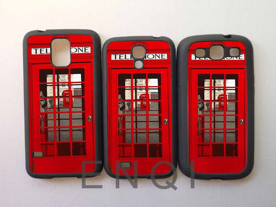 High quality Vintage London Telephone Box Mobile phone protective shell Case Cover For Samsung Galaxy S5 s4 s3 Free shipping(China (Mainland))