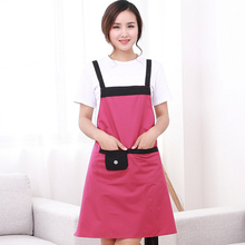 Japanese Elegant Waterproof Woman Cooking Aprons Housewife Oil Proof font b Kitchen b font Apron Fashion