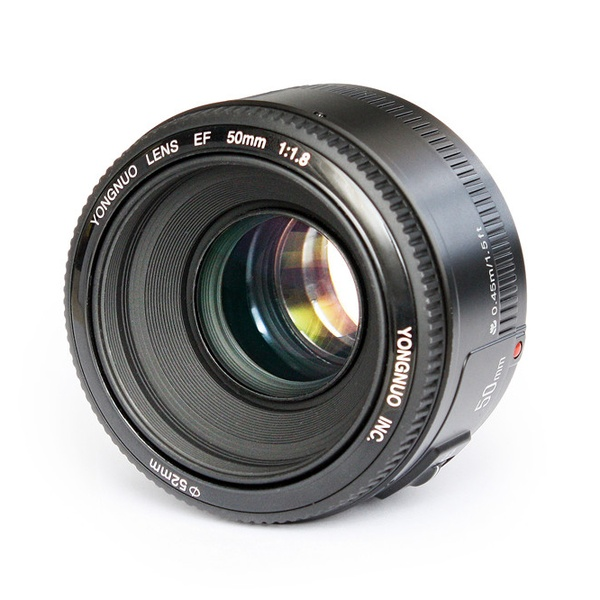 <font><b>YONGNUO</b></font> YN50mm f1.8 YN EF <font><b>50mm</b></font> f/1.8 AF Lens YN50 Aperture Auto Focus for Canon EOS DSLR Cameras