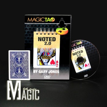 Noted 2.0 Blue by Gary Jones and Magic Tao / professional close-up stage street CARD Magic Tricks products