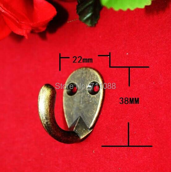 Гаджет  5PCS/LOT Antique alloy mini 22*38mm single hook coat hooks zinc alloy wall hook furniture accessories None Мебель