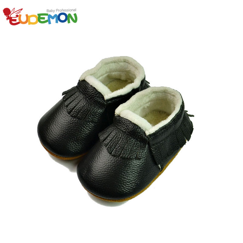 Winter baby moccasins Genuine Leather Skid Candy Color baby girl shoes warm baby shoes Infant Toddler first Walkers(China (Mainland))