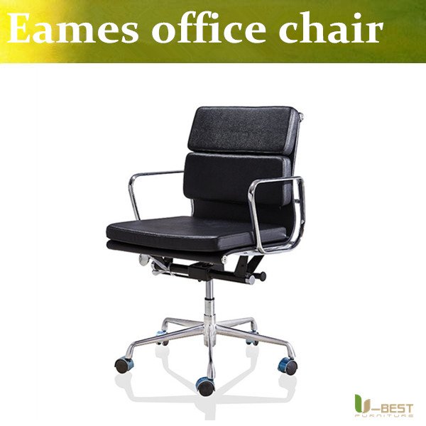 U-BEST Emes Aluminum Group Style Management Low Back Soft Pad office Chair,designer swivel office furniture in leather(China (Mainland))