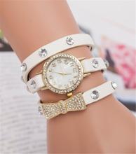 Crazy selling relogio feminino quartz watch with bowknot,free shipping New arrival diamond jewelry bracelet women digital watch