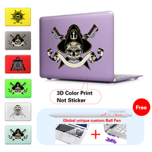 Print Skull and Crossbones Sabres Pirate Pattern Case For Apple Macbook Air 13 Case Air 11 Pro 13 Retina 12 13 15 Laptop Case