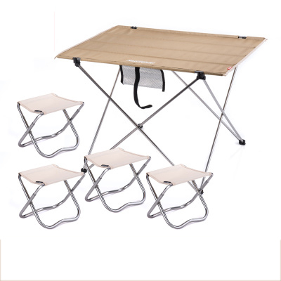 POINT BREAK Outdoor Folding Tables And Chairs Set Khaki Large Table 4 Camp Chair Outdoor Folding Table Fishing Leisure Chairs(China (Mainland))