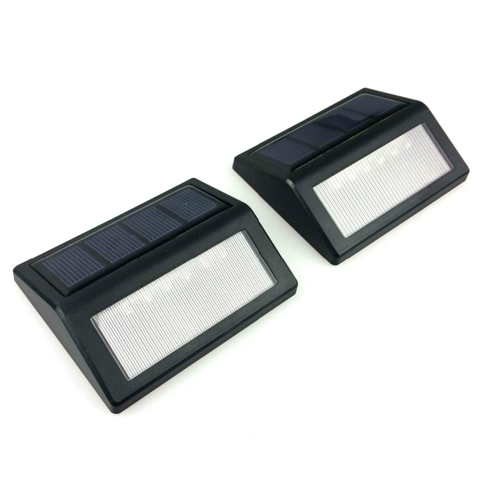 ruocin 2PCS New LED Solar Wall Light Outdoor Light Waterproof IP55 Solar Decorative Lamp(China (Mainland))