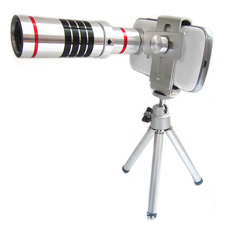 2-east Phone 18X Zoom Camera Telephoto Telescope Lens+Mount Tripod For iPhone For Samsung for HTC lens quality