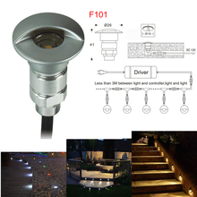 0.6W DC12V Led Step Light Outdoor LED Deck Light Recessed LED Spot Light  IP65 for Outdoor Lighting Garden Path with CE&RoHs(China (Mainland))