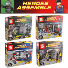 Super Heroes Avengers 4 Sets Building Toy Blocks Marvel Iron Man Toys for Kids Figures Building Kits Bricks Compatible with Lego