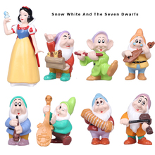 Princess Snow White And The Seven Dwarfs PVC Anime Cartoon Action Figures Collection Kids Toys Gift For Girls
