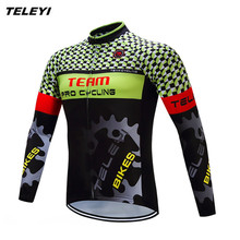 Buy 2017 TELEYI Green Gear Bike Long jersey Men Cycling clothing Spring Autumn Male MTB Ropa Ciclismo Wear Maillot Long Sleeve Shirt for $16.09 in AliExpress store