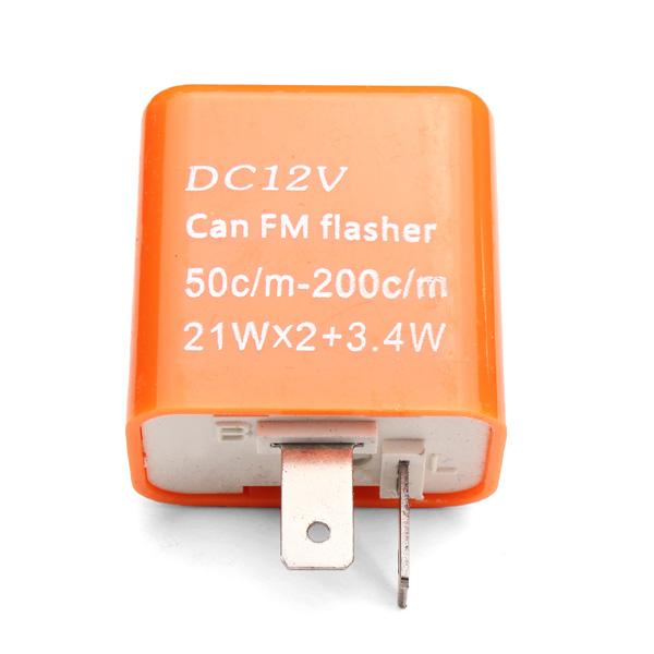 Orange 12V 2 Pin Adjustable Frequency LED Flasher Relay Turn Signal Indicator For Motorcycle Motorbike fix Blinker Indicator(China (Mainland))