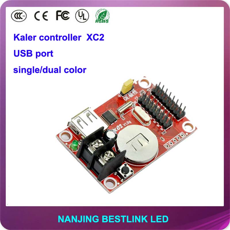 kaler LED controller card XC2 single color 32*320 pixel USB port led control card for led message sign led display screen sign(China (Mainland))