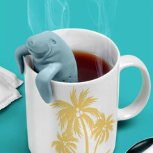 New Style Silicone Teapot Manatee Tea Strainer Mr Tea Infuser Tea Strainer Coffee & Tea Sets Mr Te Infusers(China (Mainland))