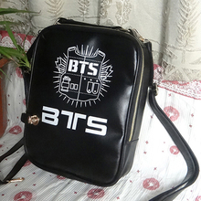 BTS Schoolbag black Backpack Rap Monster SUGA JIMIN Korean student bag(China (Mainland))