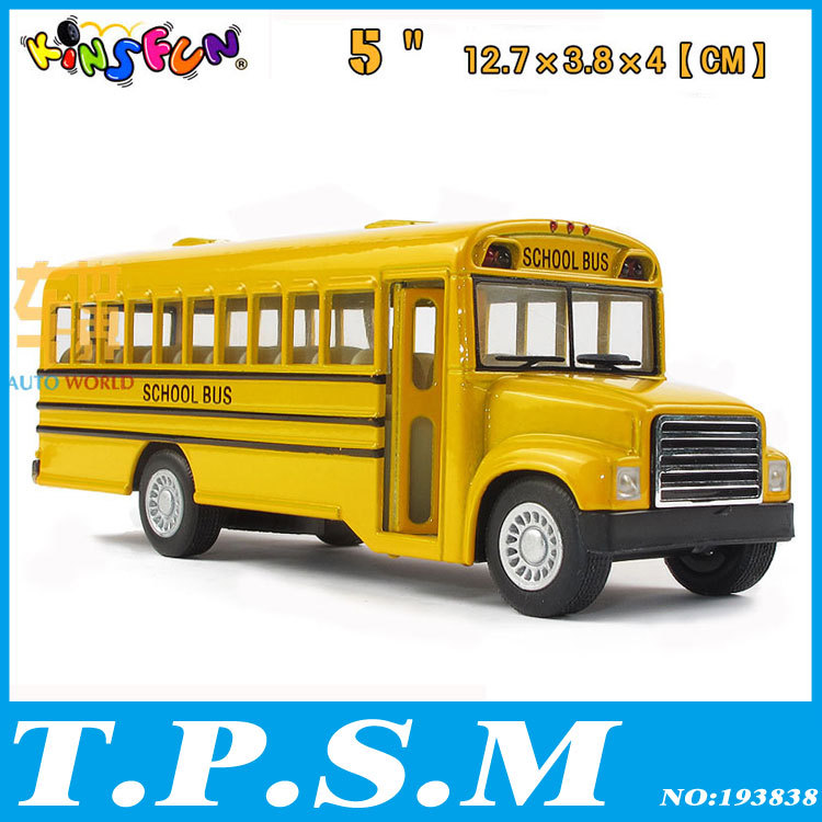 New Kinsmart American school bus Alloy model toy Bus with pull back As gift For boys Childs Children(China (Mainland))