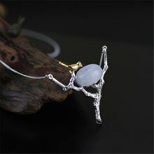 Оформление SaleUnique Счастливы Питьевой Птица Ожерелье Для Женщин Настоящее Стерлингового Серебра 925 Ювелирные Изделия Ручной Работы Лучший Подарок(China (Mainland))