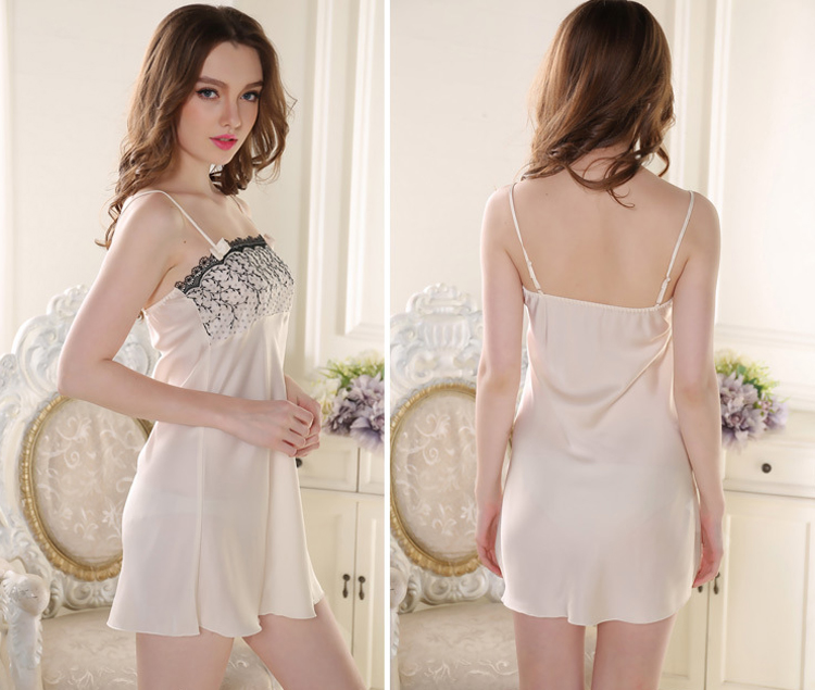 Women Silk Nightgown Robe Set Sleeveless Night Gown And Short Sleeve