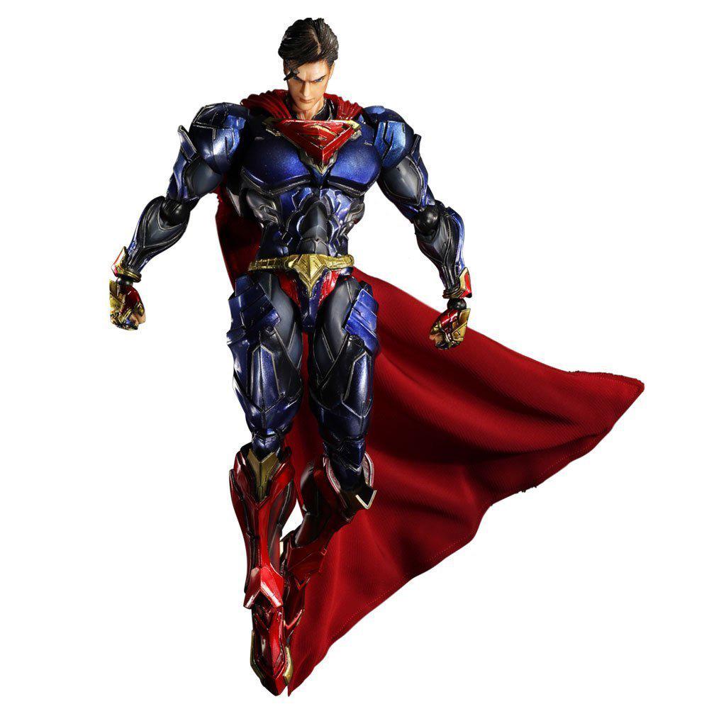 "Anime Movie Model Superman 10.5"" Action Figure Play arts Kai figurine hot kids Toys Collection Playarts kai Super man brinquedos()"