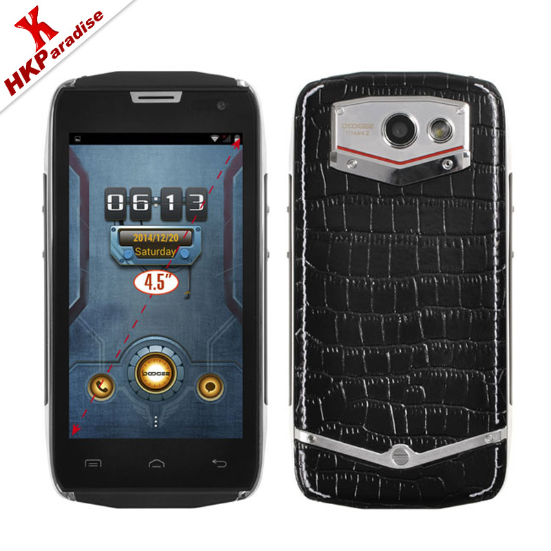 Original DOOGEE TITANS2 DG700 Cell Phone IP67 Android 5.0 MTK6582 Quad core 1.3GHz Water Dust Proof 3G Smartphone(China (Mainland))
