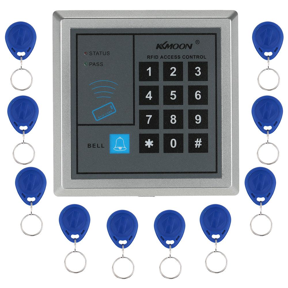 RFID Proximity Entry Door Lock Access Control System +10 RFID Keys Tags Door Control System Home Security(China (Mainland))