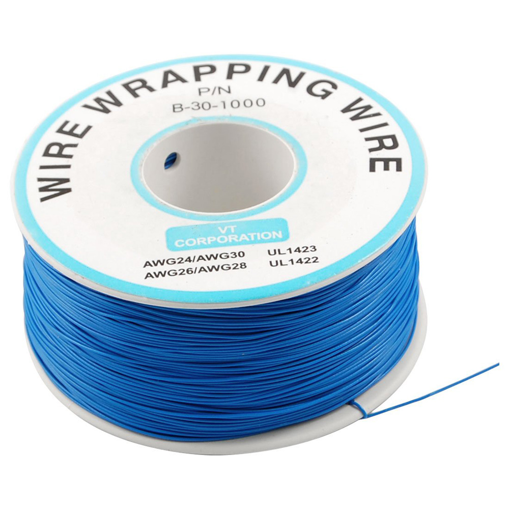 5 Pcs/Lot Wholesale Amico Breadboard P/N B-30-1000 Tin Plated Copper Wire ping 30AWG Cable 305M Blue(China (Mainland))