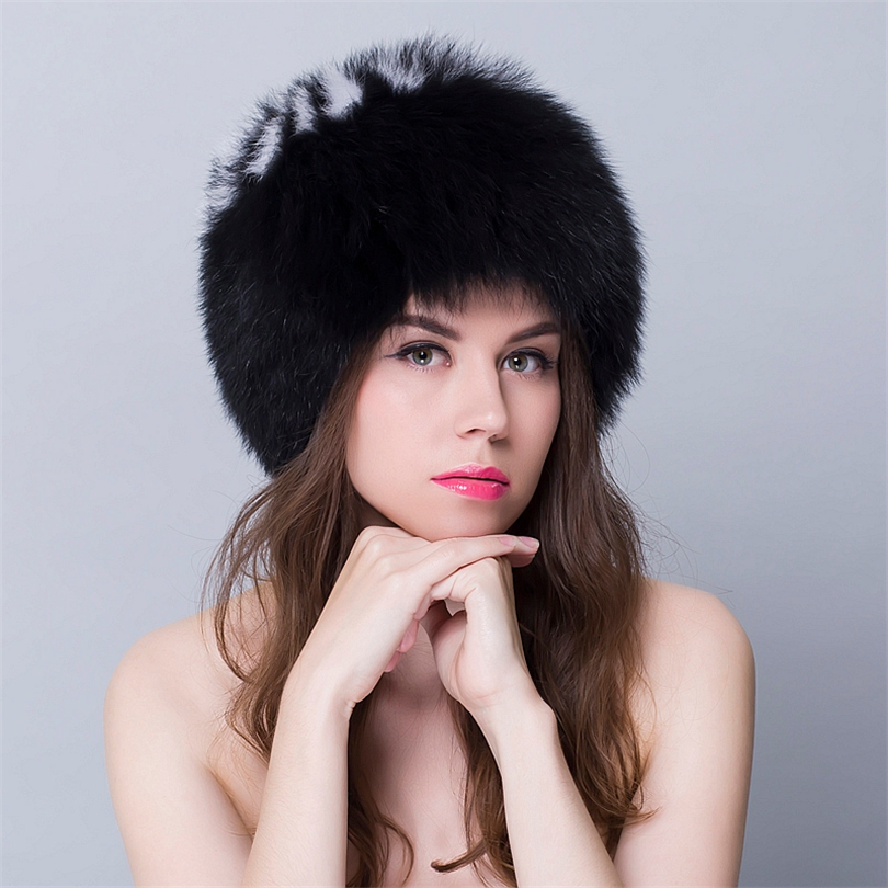 Real Fur Hats For Women Winter Womens Fur Russian Hat And Caps Round Tops Fur For Girls Natural New Bombers Russia Hats(China (Mainland))