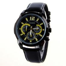 Hombres top marca de lujo de relojes Men vestido de la correa de cuero del cuarzo reloj de pulsera de negocios relogio masculino venta de descuento